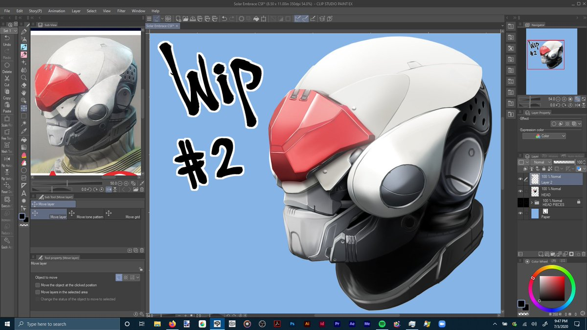 WIP Progress #2  Head is finished, so time to choose the armor for the body I want to do!  It's coming along really well too!  #WIP #workinprogress #art #digitalart #CLIPSTUDIOPAINT #Destiny2pic.twitter.com/6JscQMmZrp