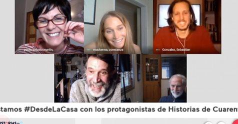 """""""Esa frase me hizo mier..."""": Protagonistas de Historias de Cuarentena elige el capítulo más emotivo >> https://t.co/tHjGzauBn1 https://t.co/WjXm3eD6I9"""