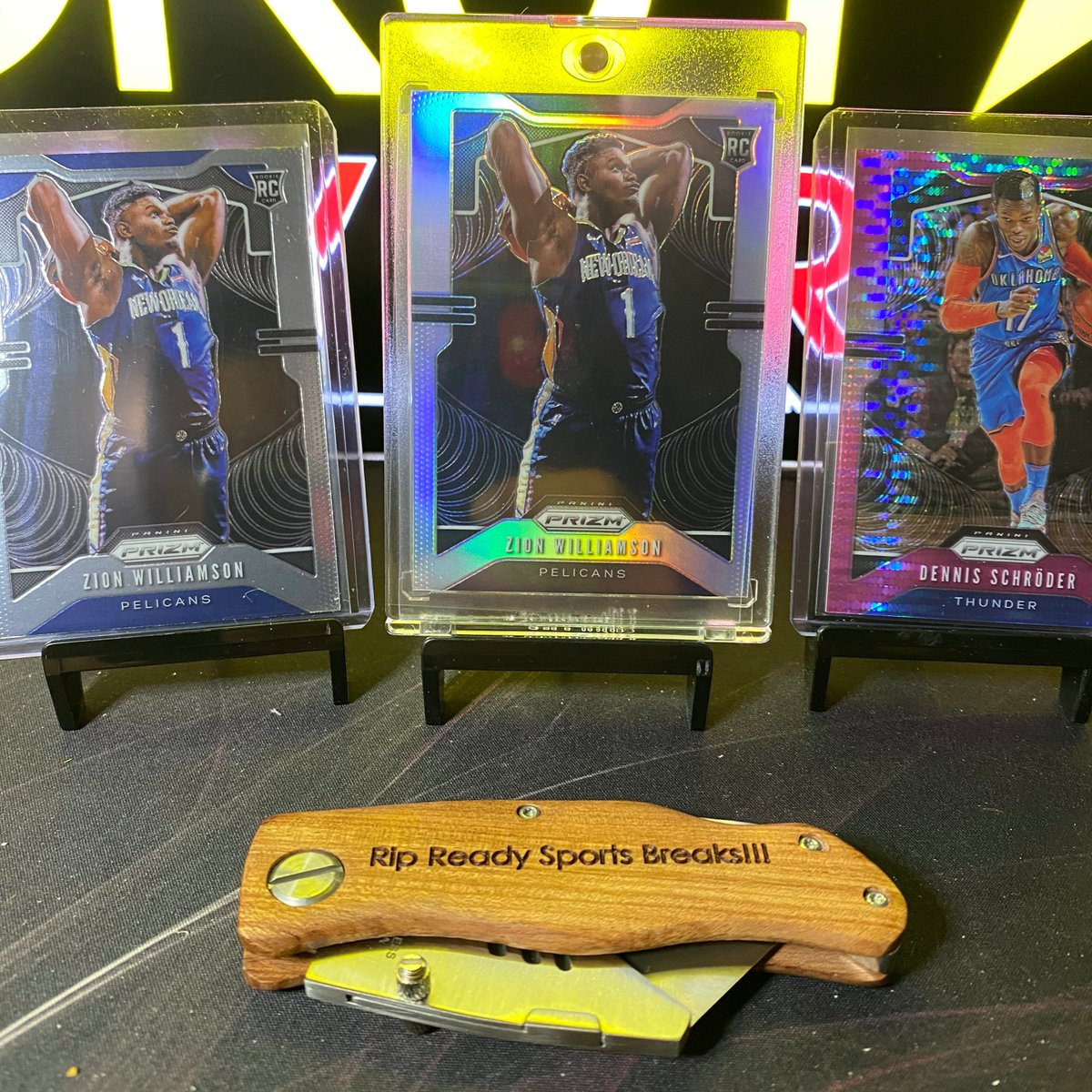 Ho-Hum...Just another ZION WILLIAMSON  appearance in our latest break of 2019-20 @PaniniAmerica Prizm Basketball. A base AND a silver! Not to mention this gorgeous Dennis Schroder #'d to 42 pic.twitter.com/caueAusAH2