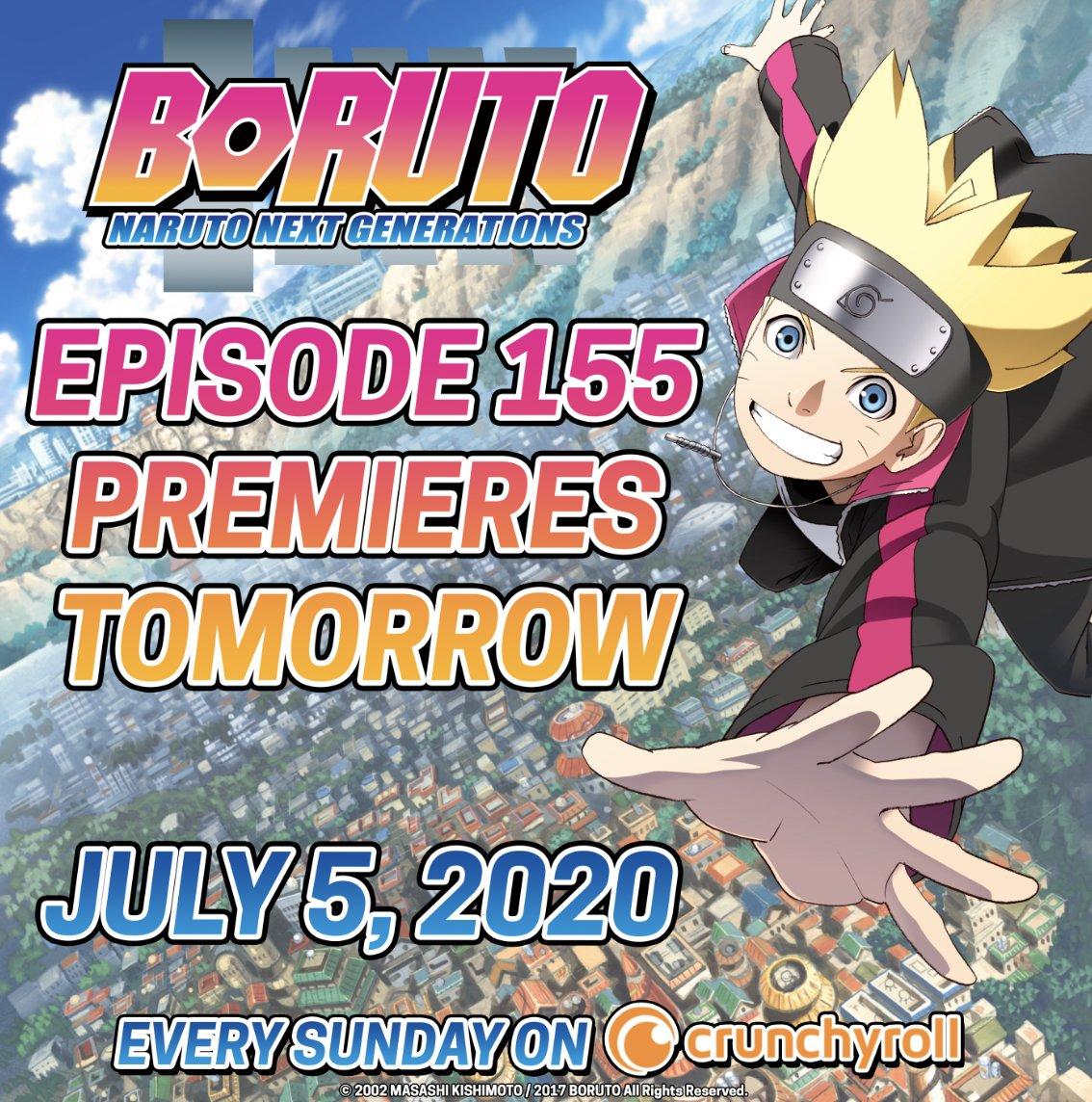 BORUTO RETURNS TOMORROW! pic.twitter.com/2gK5YkSQIF  by BORUTO: NARUTO NEXT GENERATIONS