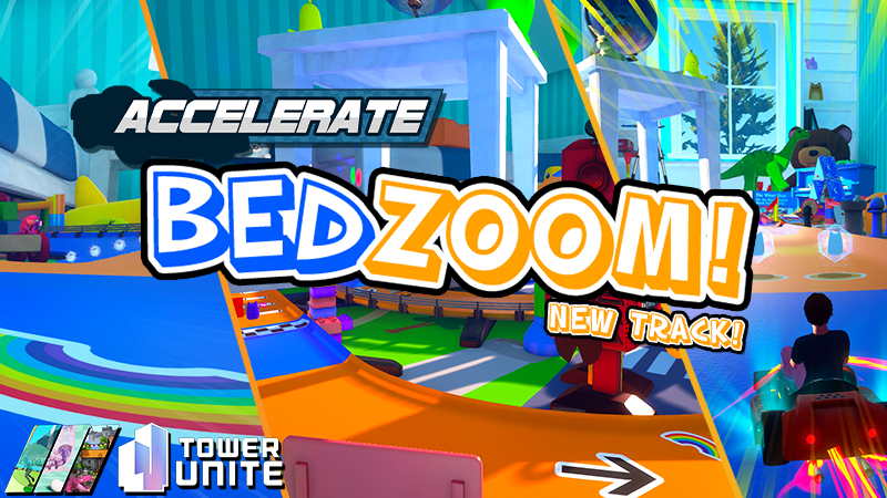 Tower Unite: Bedzoom Update (0.10.1.0)  Zoom through a playful and exciting toy race track! We've made various improvements to Accelerate's networking as well!  Read what's new: https://steamcommunity.com/games/394690/announcements/detail/2521402000882409879…pic.twitter.com/1588WRtVgg  by PixelTail Games