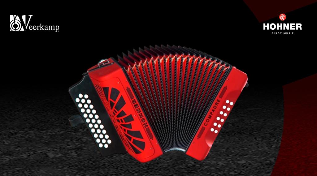 El acordeón diatónico sol-do-fa de @PlayHohner es ideal para músicos principiantes y experimentados.   ¿Sabías que está disponible en Veerkamp Online?: https://t.co/bmFzG4gGvk   #JuntosHaciendoMúsica 🎶 https://t.co/YYFvIAs6Ix