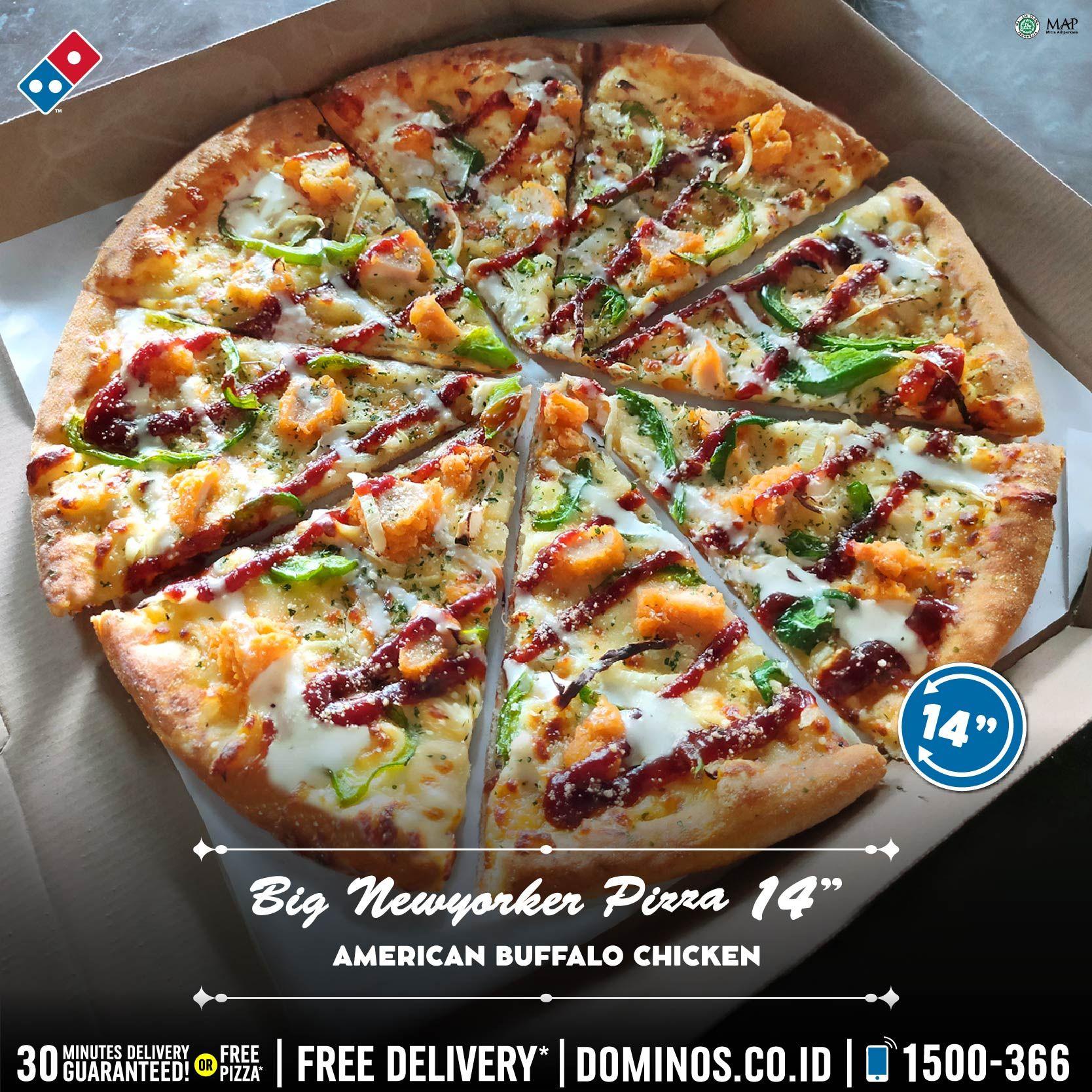 Domino S Pizza Id Auf Twitter Bigger Size Bigger Taste Musttry Big Newyorker Pizza Tersedia 4 Topping Favorite Harga 107rb An Untuk 8 Slices Besar Orderonline Https T Co Oy9vosyy8y Call 1500366 Dirumahaja Zerocontactdelivery