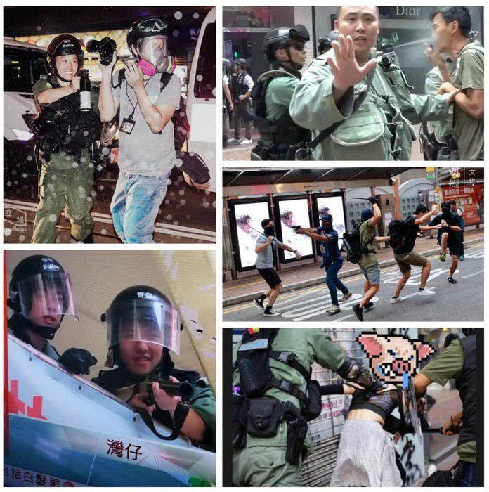 Anyone else find it interesting that no #HongKonger question the man's identity even though he didn't show his *warrant card*? Everyone just assumes he is a #HongKongPolice. This is the image they built over the last year, rude and psychopathic. #Branding #PoliceViolence https://t.co/QkV7fZlcDS