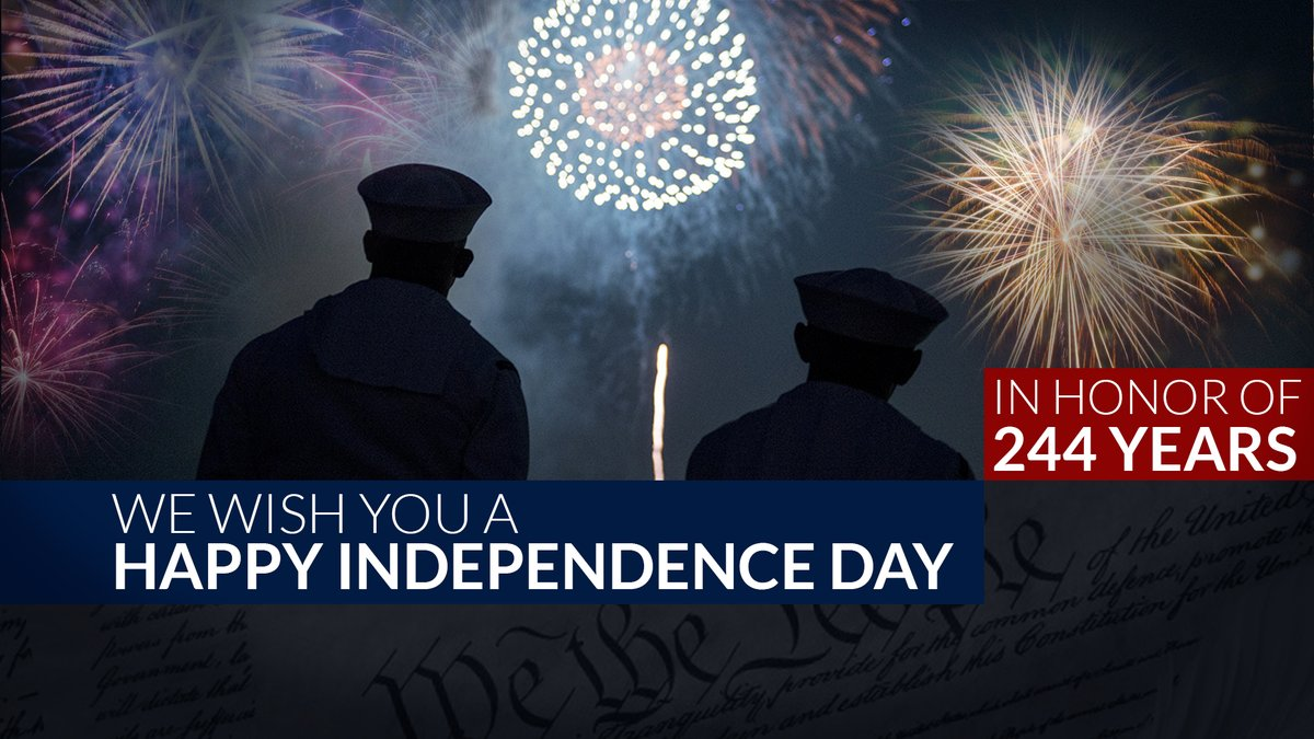 In 1870 Congress made the 4th of July a national holiday for all Americans to enjoy a patriotic celebration honoring our Nation's birth. I want to wish all @DeptofDefense service members, civilian employees, and their families a Happy Independence Day!