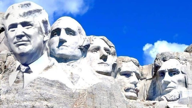 RT if you would like to see President Trump added to Mount Rushmore
