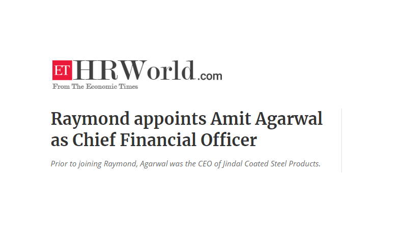 Raymond is India's leading integrated worsted suiting manufacturer that offers end-to-end solutions for fabrics and garmenting.  #HRNews #Leadership  https://t.co/Rq5JXPiFZP https://t.co/QDF45Bj6b2