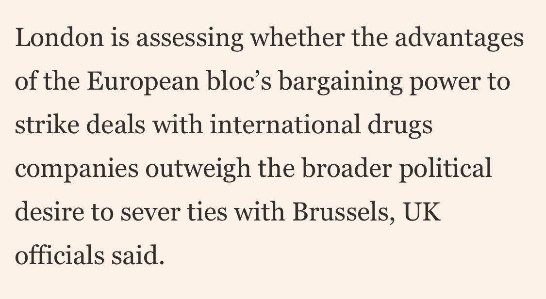 Brexit looks likely to take precedence over public health as govt weighs up involvement in EU vaccine plans. https://t.co/RCMX3lDMxP https://t.co/Awxo6gZYuj