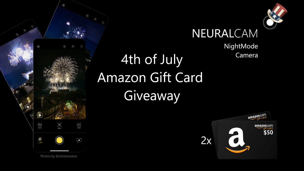 Have a happy, bright #July4th!  @chrismessina took some amazing #fireworks photos with NeuralCam. Can anyone top that?   We're giving away 2x $50 Amazon Gift Cards to the best fireworks photos taken with #NeuralCam #NightMode! Share your photos here.  also.. the app is 40% OFF 👀 https://t.co/Q51QSQTxsa