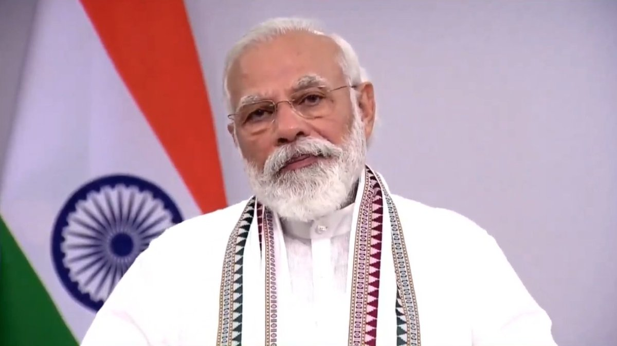 The eight-fold path of Lord Buddha shows the way towards the well-being of many societies and nations.   It highlights the importance of compassion and kindness.   The teachings of Lord Buddha celebrate simplicity both in thought and action: PM @narendramodi https://t.co/2e889I7zDY