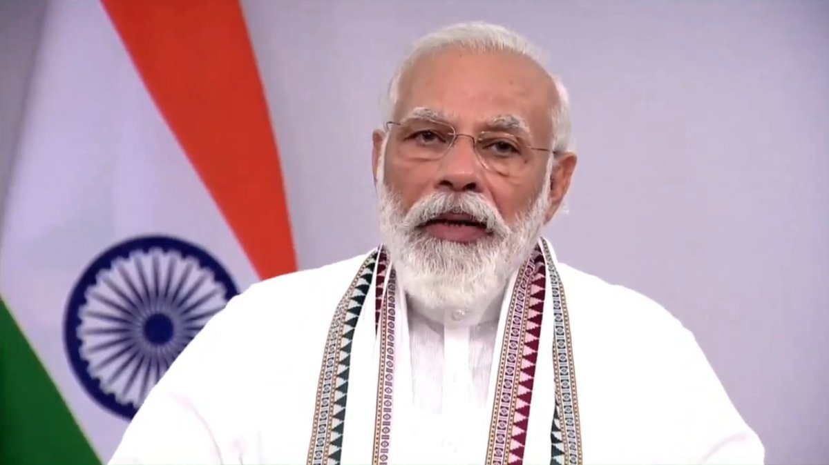 Buddhism teaches respect.   Respect for people.   Respect for the poor.   Respect for women.   Respect for peace and non-violence.   Therefore, the teachings of Buddhism are the means to a sustainable planet: PM @narendramodi https://t.co/noI0Qgf0AW