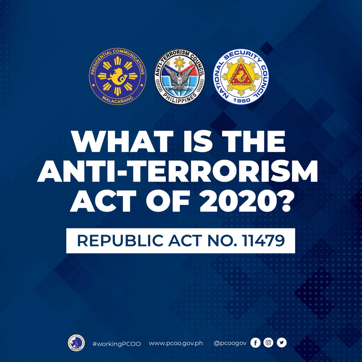 LOOK: Here are the acts constituting terrorism as enumerated in Republic Act 11479, also known as the 'Anti-Terrorism Act of 2020', which was signed into law by President Rodrigo Roa Duterte yesterday, July 03, 2020.  #workingPCOO #AntiTerrorismAct #YestoAntiTerrorismLaw https://t.co/uWciMvZ3Bm