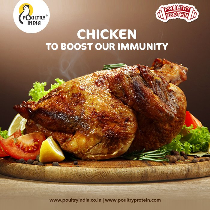 Dr. Anushka Baindur, Senior Dietician - Fortis Hospital, Suggests ways to Build a Stronger Immune system by Eating Chicken and other Diets . Read - https://t.co/O2QcyJYhKK . #PoultryIndia #PoultryProtein #PoultryRecipe #StayHomeStaySafe #HealthyatHome #PoultryIndustry https://t.co/OXh2PmZeoe