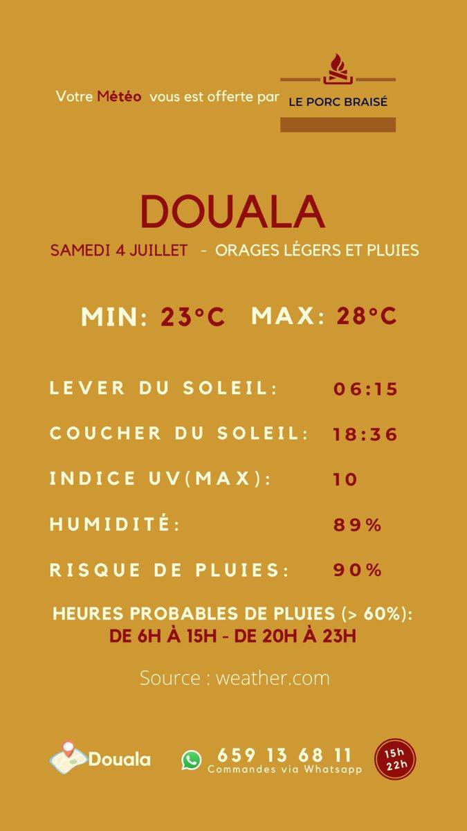 Excellente journée à tous! #Meteo #Doualapic.twitter.com/zAvHG9nVPq  by Le Porc Braisé
