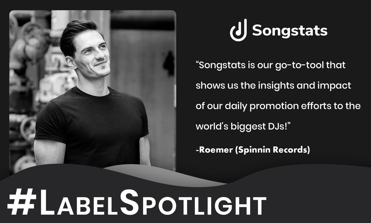 """""""Songstats is our go-to-tool that shows us the insights and impact of our daily promotion efforts to the world's biggest DJs!"""" -𝐑𝐨𝐞𝐦𝐞𝐫 (𝐒𝐩𝐢𝐧𝐧𝐢𝐧 𝐑𝐞𝐜𝐨𝐫𝐝𝐬)  #LabelSpotlight @Roemerhasit @spinninrecords<br>http://pic.twitter.com/TfYymQTxCf"""