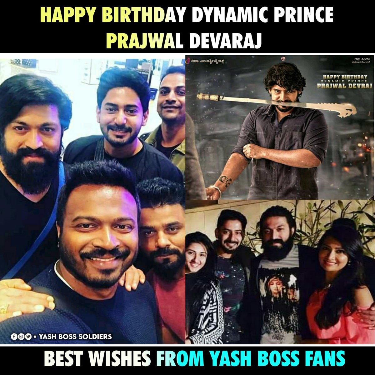 Happy Birthday @PrajwalDevaraj  Sir From #YashBoss Fans  #KgfChapter2 #yashbosssoldiers #Kgf2 #YashTheBoss #SpreadYashism #Yash #AyraYash #Ayra #RockyBhaipic.twitter.com/vIjVdDtpWi