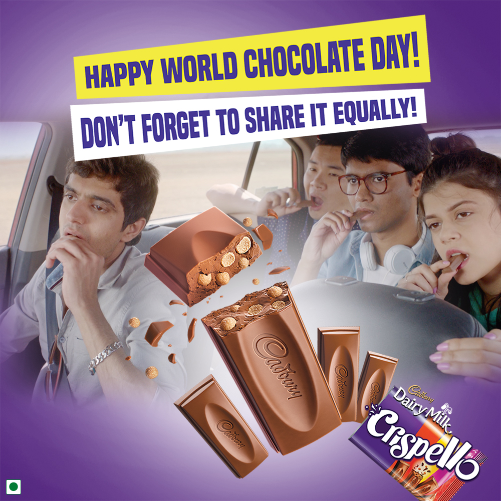 This #WorldChocolateDay, don't forget to share a Crispello equally with your gang of four! #CadburyDairyMilkCrispello https://t.co/NSyZXI20Ft