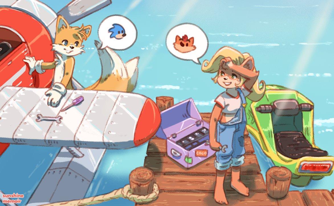 Only a genius to understand another 🧠 #CrashBandicoot4 #Sonic #crashbandicoot #crash4