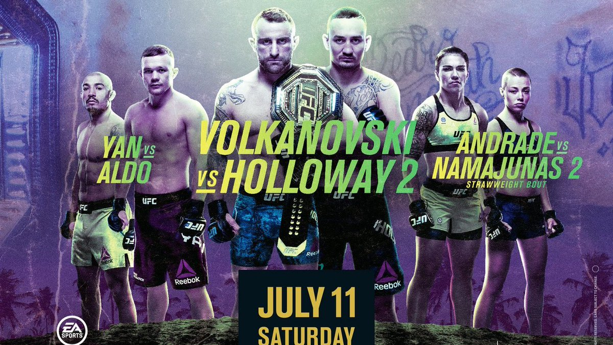 Volkanovski vs Holloway 2 is most probably going to be the main event, they dont need another title fight that desperately for a short notice title fight replacement, they already have two.   #UFC #MMATwitter #UFC252 https://t.co/Hk60KQjMej