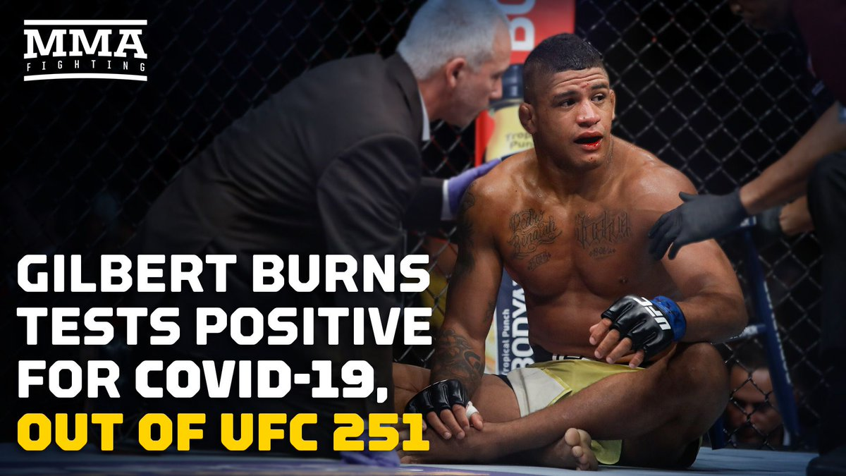 ICYMI: Our own @ MikeHeck_JR and @JoseYoungs react to the shocking news of Gilbert Burns testing positive for COVID-19 ahead of #UFC251  ▶️ WATCH: https://t.co/nrWeOqe4lK https://t.co/3rwPuQth84