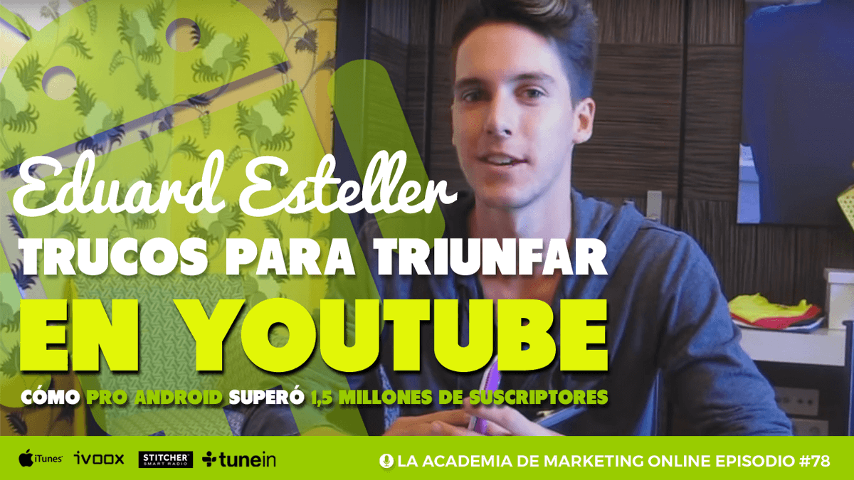 📺 ¿Así que quieres ser YouTuber? Escucha los secretos del creador de @ProAndroid [2,2 MILLONES DE SUSCRIPTORES] para triunfar en YouTube 🔊 https://t.co/fiKk5BaLRC https://t.co/0j1UzpSQv6