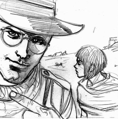 Peter Parker Noir from the Spider-Man Noir comic I'm drawing, issue 4 this is..