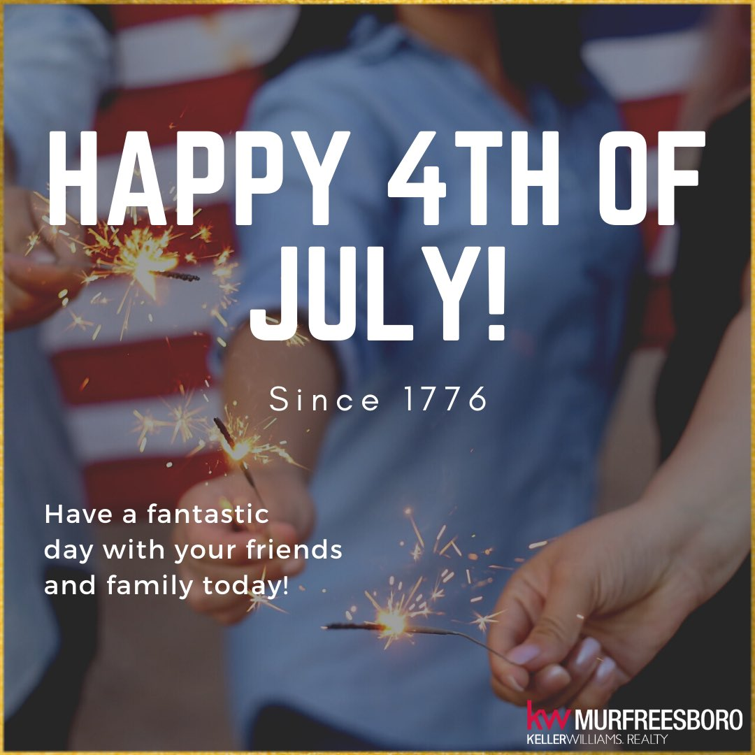 🇺🇸Happy 4th of July! 🇺🇸    #IndependenceDay #TennesseeRealtor #GreaterNashville #Freedom #July4th #MurfreesboroTN #RealEstateAgent https://t.co/SM8FhlgKrm