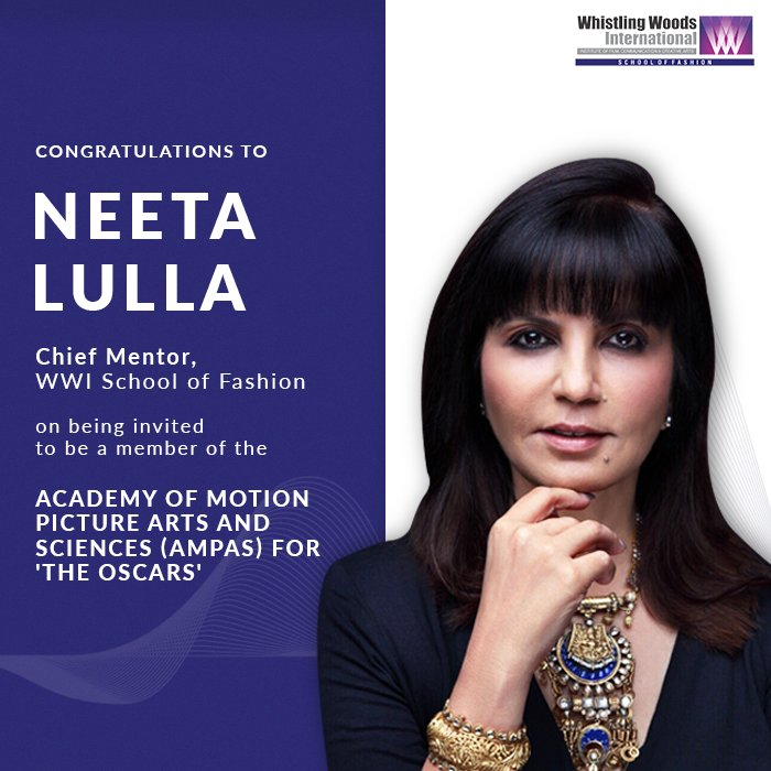 Representing India, she will have the voting rights for the 93rdAcademy Awards, officially and popularly known as The Oscars. #DoWhatYouLove #WWISchoolOfFashion