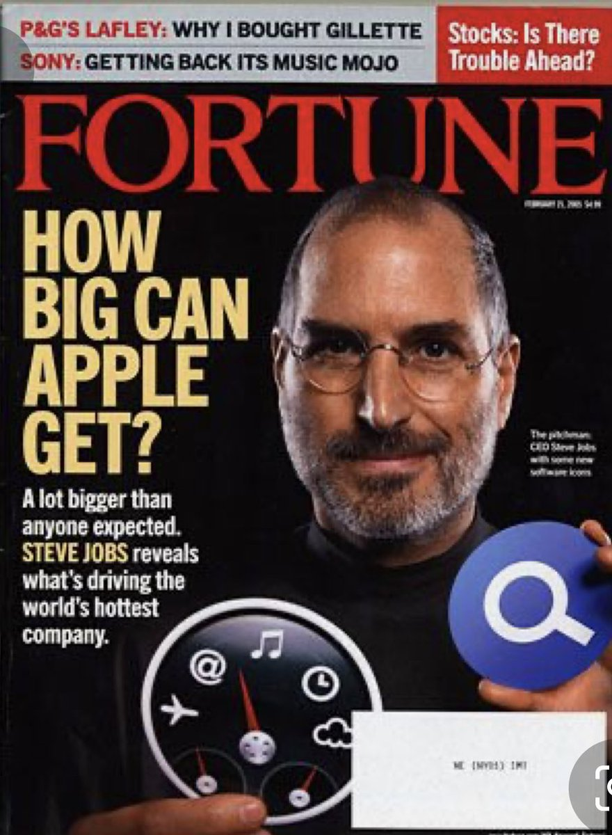 """#Fortune asked """"How big can #Apple get?"""" in 2005. Having hit $1.5 Trillion, how many Industries will be effected...?!"""