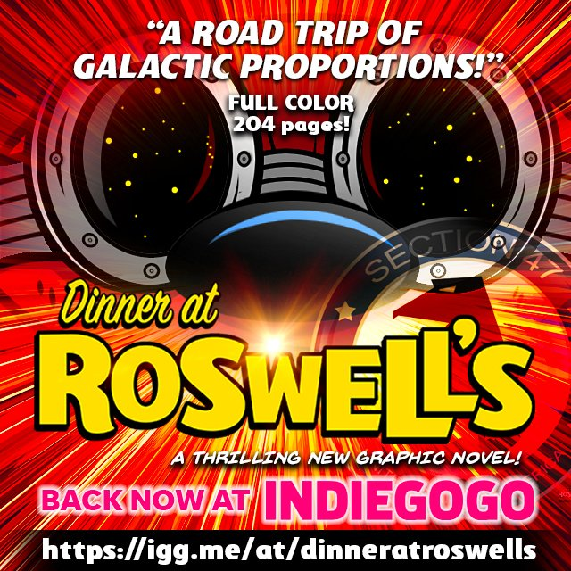 Check out my buddies new graphic novel campaign on Indiegogo Dinner At Roswell's.  https://t.co/4Ed3MUG63T https://t.co/6zrW3Z659P