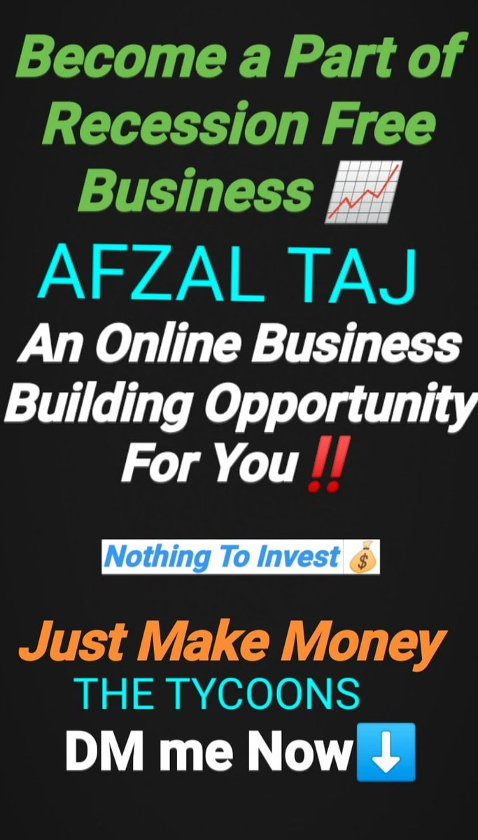 HERE IS AN OPPORTUNITY FOR EVERYONE. DON'T MISS THIS OPPORTUNITY BECAUSE OPPORTUNITY DOESN'T COMES AGAIN AND AGAIN. CONTACT ME FOR DETAILS.  #thetycoons #entrepreneurship #oppurtunity #businessowner #noinvestmentspic.twitter.com/U7CWWihPW0
