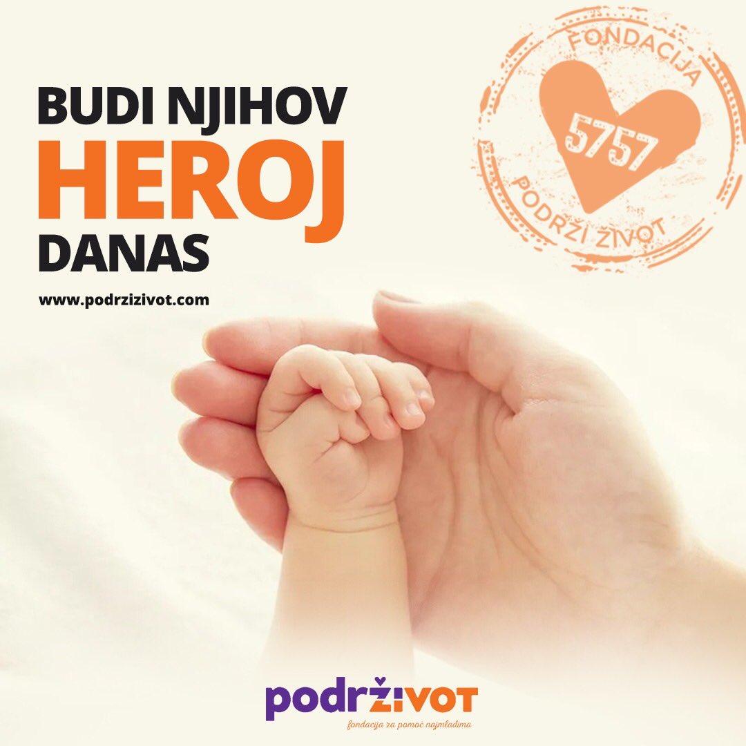 Fondacija PODRŽI ŽIVOT trenutno ima četrnaestoro dece čije lečenje finansira. Budite njihovi heroji, pošaljite sms na 5757.  https://t.co/UuU2p7GHCY #podrzizivot https://t.co/fdCFMhgnTB