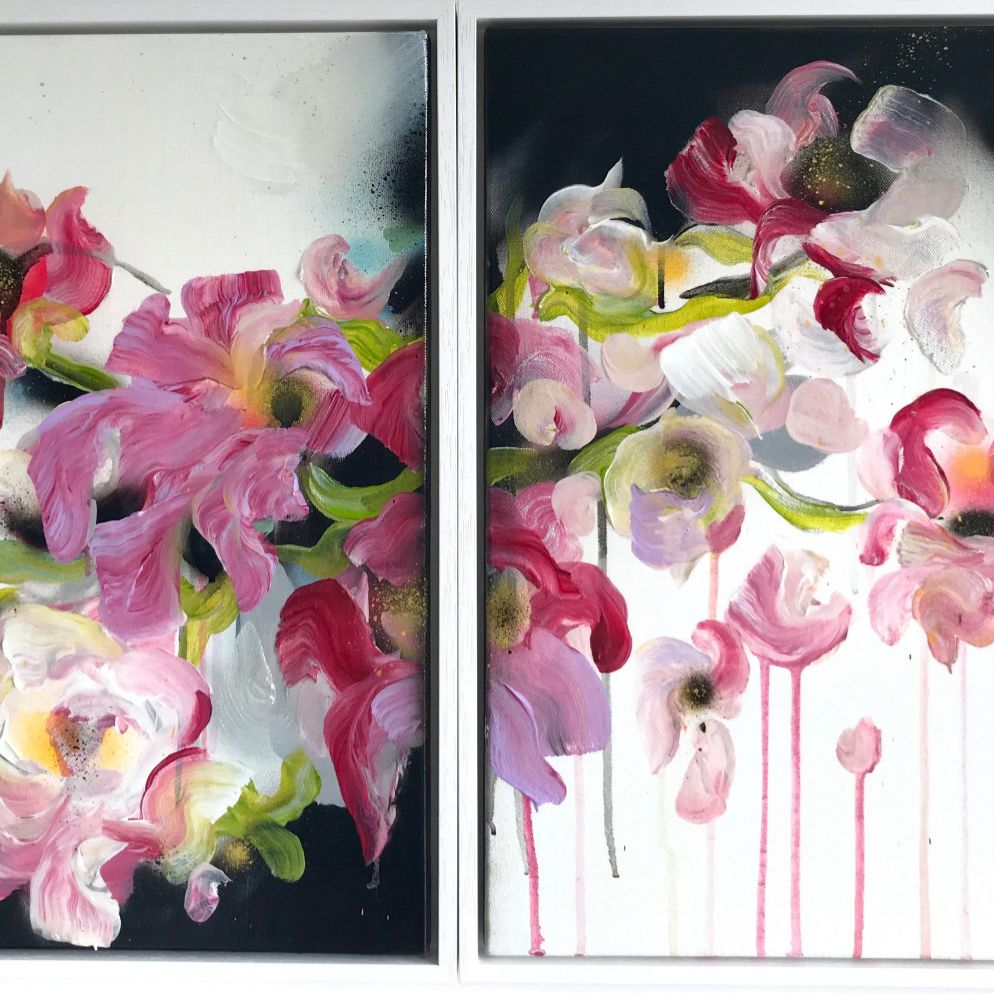 'Bella Framed VII and VIII' • £800 • Exclusively available on DegreeArt • 53 × 43 × 7 cm • 2 paintings made of acrylic and emulsion paint on a bespoke stretched canvas framed • To collect or for more info DM us/ call  07708251687 • https://bit.ly/38rpbEthttps://www.degreeart.com/bella-framed-vii-and-viii…pic.twitter.com/HCDLZb9t4p