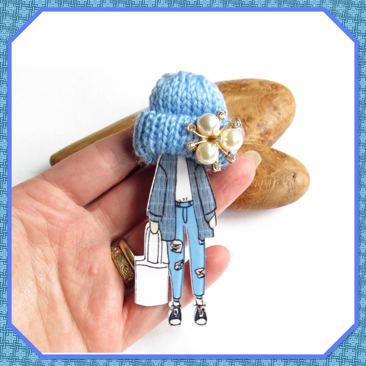 Excited to share this item from my #etsy shop: Brooch | Badge | Acrylic | Woolly Hat | Accessory | Jewellery | Jewelry | Trend | Model  https://etsy.me/3iwuCXx  #ukgiftam #Saturday #SmallBizpic.twitter.com/lJXxCvLbfr