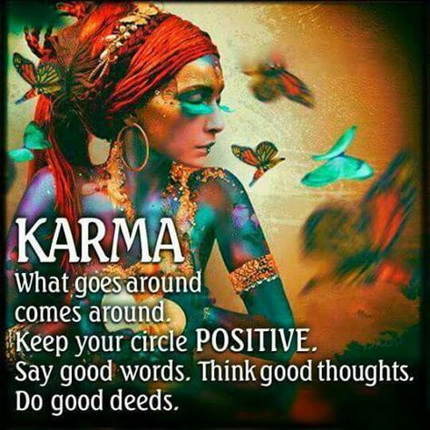 #Karma What goes around comes around. Keep Your Circle #positive. Say Good Words. Think Good Thoughts. Do Good Deeds! #SaturdayThoughts #quotesaboutlife #JoyTrain #GoldenHearts #ChooseLove #LifeLessons #BePositive #Positivity #SpreadLove #KindnessMatters #happinesspic.twitter.com/vnvIqhF2BX