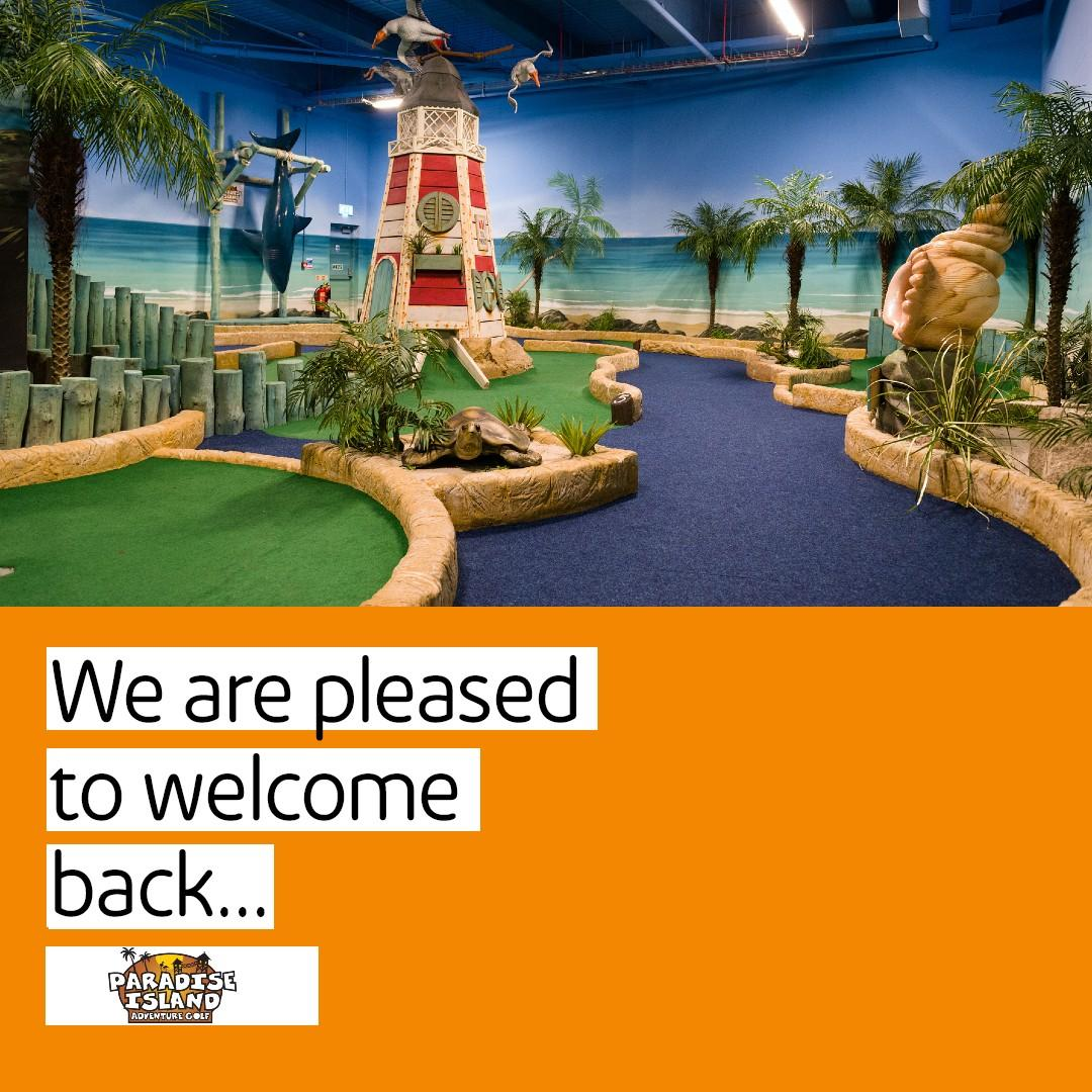 Paradise Island Adventure Golf are back open! Find out information about what they are doing to keep you safe here > https://t.co/d4LEqv2UFR https://t.co/Gz3o6lzCoz