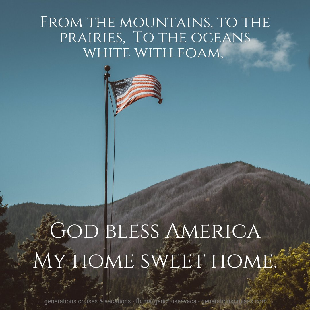 Happy birthday USA! Happy Independence Day everyone!  #travel #vacation #USA #independenceday #4thofJuly #roadtrip #family #familytime #GodBlessAmerica #quotestoliveby #quoteoftheday #qotd #quotesdaily #quotesaboutlife #travelquotes #GenerationsCruisesAndVacationspic.twitter.com/mm8lp7PoGh