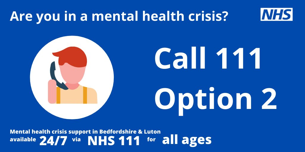 Struggling with your mental health?   24/7 urgent mental health crisis support for adults, children or young people is now available.   📞 NHS 111 and select Option 2.  @NHS_ELFT https://t.co/GS5OGYyDjF