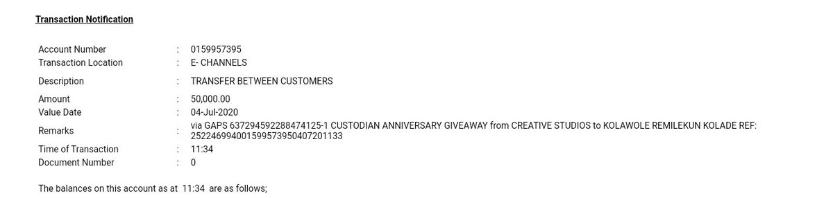 Alert Received......  All Thanks to @CustodianPLC The talk and do.  Words cannot express how grateful I'm...  Happy Anniversary #CustodianAt25.  Thread<br>http://pic.twitter.com/rUdwK5BC0l