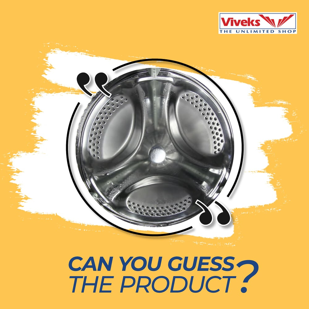 Here is something interesting to keep your mind busy in the weekend. Guess what product this part belongs to? Let us know in the comments section.  #NammaViveks #GuessWhat #Lockdown #quarantine #Covid_19 #Electronicspic.twitter.com/ax2TFywJ4N