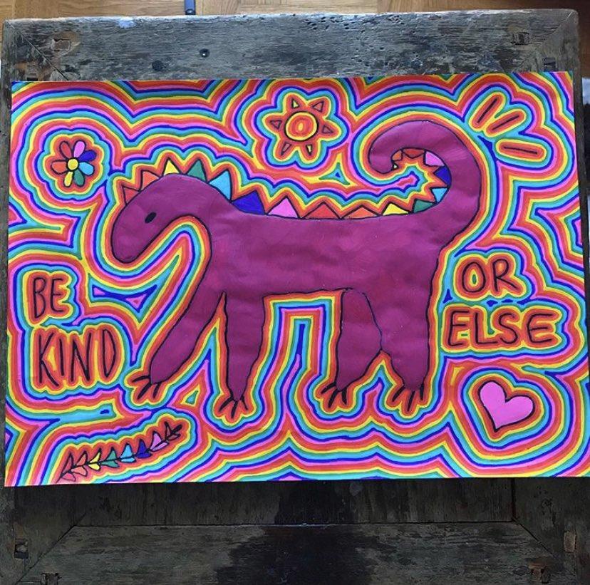 be kind... or else #outsiderart #folkart #schizophrenicart #schizophrenicartist #psychedelic #psychedelicart #trippy #posca #madewithposca #artist #art #rainbow https://t.co/bcmCGB7xeA