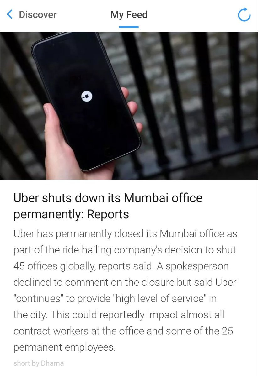 Job losses... #Uber #Mumbai https://t.co/FzHaWUGpA6