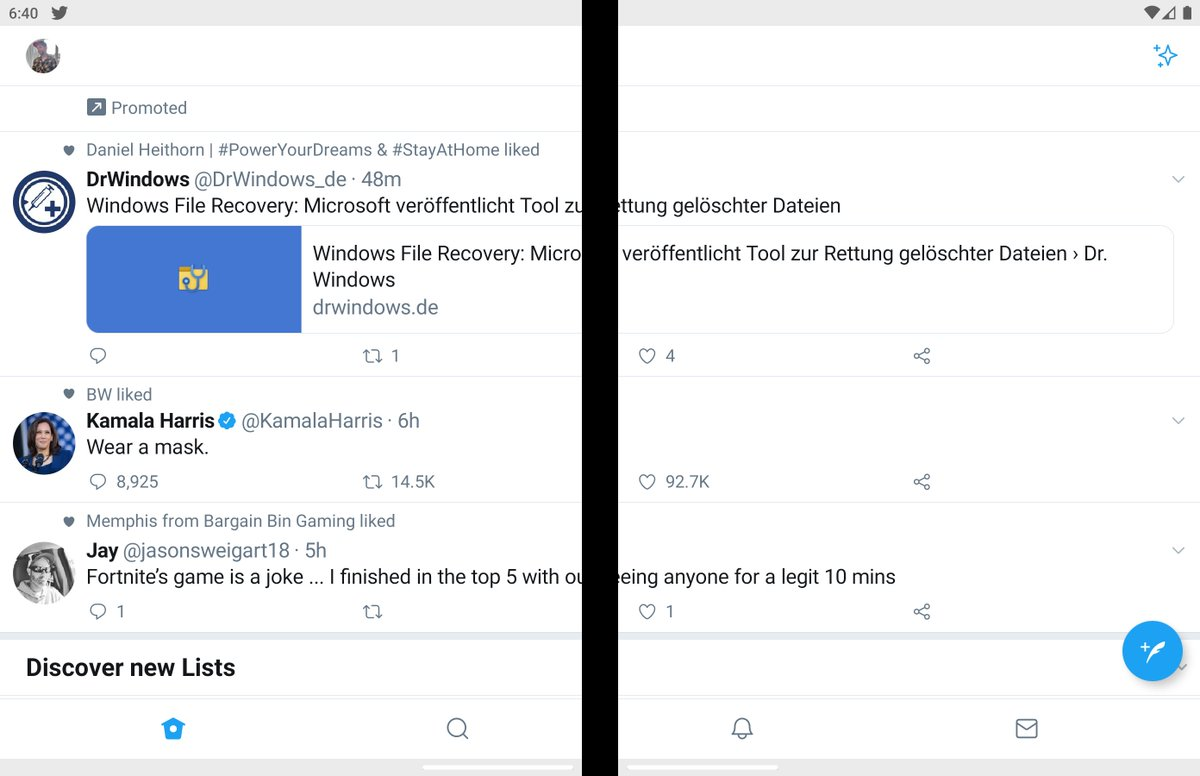 Hmm… Twitter and #Surface #Duo are not compatible oO. https://t.co/5B1AG2QoN4