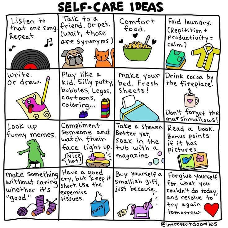 Good morning!   I wish all the businesses going back to work today ALL the luck & love x  Until I can go back & can bring you the relaxing therapy of Reflexology, here are some self care ideas for you to try  I WILL see you soon xx  #selfcare  #mentalhealth #reflexology https://t.co/nLj63V23Mc