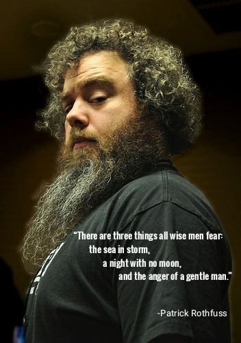 """""""There are three things all wise men fear: the sea in storm, a night with no moon, and the anger of a gentle man."""" -Patrick Rothfuss [352x500] ⚡️RT IF YOU AGREE🔥 #motivation #quotes #motivationalquotes #getmotivated #nlp #selfimprovement https://t.co/P1Z7pwHOxy"""