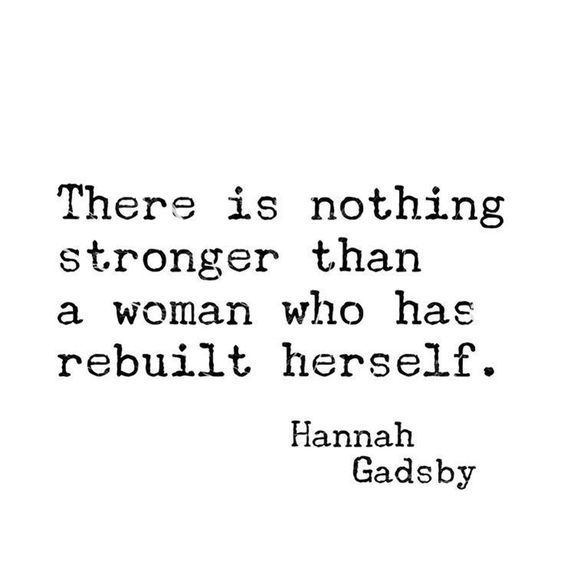There is nothing stronger than a woman who has rebuilt herself.  ~ Hannah Gadsby  #FridayMotivation #FridayThoughts #Healing #Trauma #Survivors #MeToo #SelfCare #SelfLove https://t.co/DSBx1fFn7f