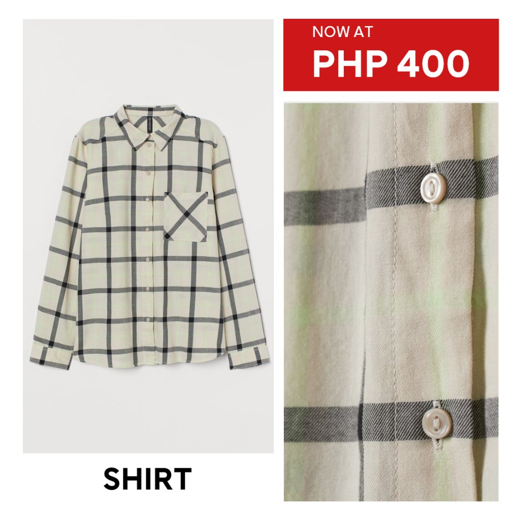 Get these button-up shirts to look effortlessly chic while you #wfh.  More items at up to HALF THE PRICE are waiting for you in all H&M stores!<br>http://pic.twitter.com/87UIh7heFg