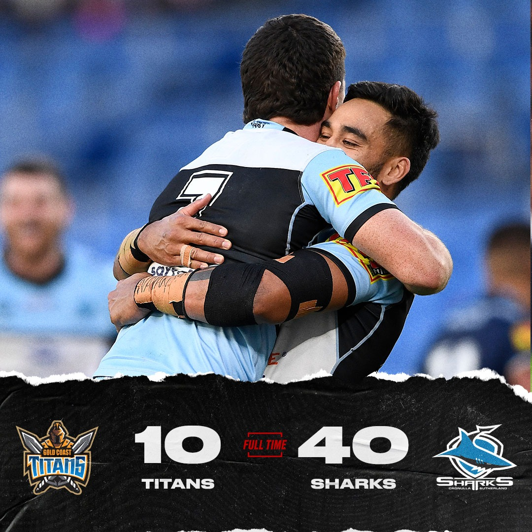 Another big win for @Cronulla_Sharks, though Matt Moylan looks to have done more hamstring damage. #NRLTitansSharks https://t.co/S8nnvQeX7Y
