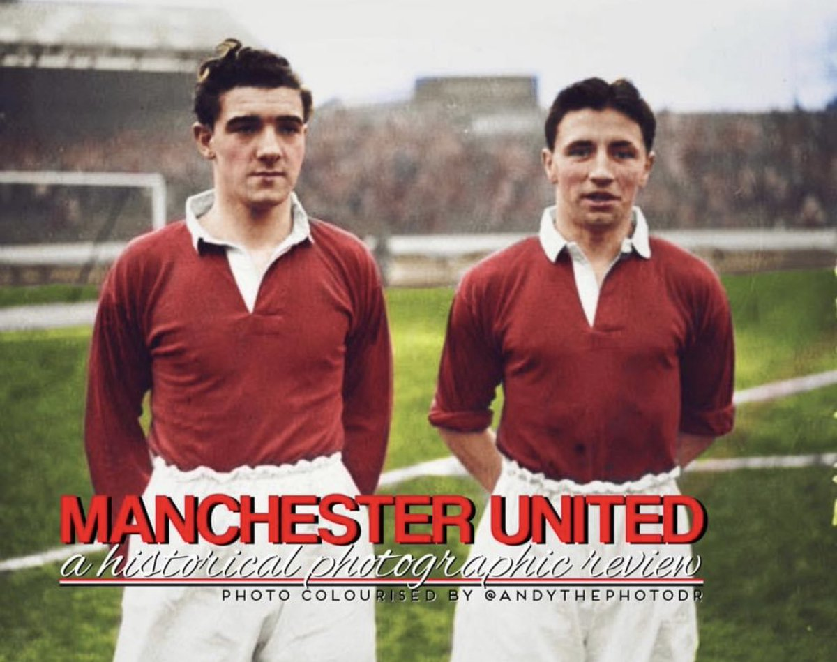 Billy Foulkes and Roger Byrne. Two all time greats, one a life fulfilled the other cruelly taken. #MUFC_Family #ManchesterUnited #MUFC #GGMU #UTFR #TRA #ManUnited #ManUtd https://t.co/2RCFHWbYgS