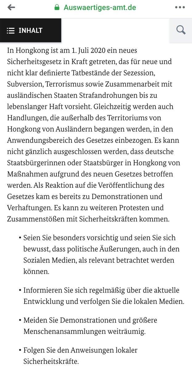 """Herzlich willkommen"" in #Hongkong  #NationalSecurityLaw #HongKongNeedsHelp https://t.co/buFoMbwwKf"